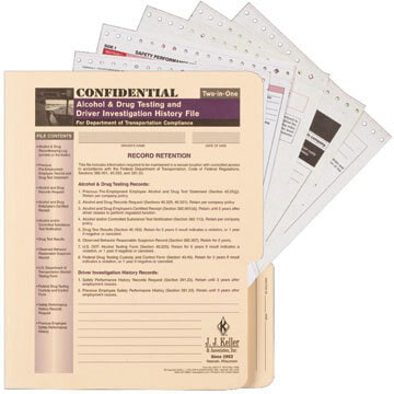Confidential Alcohol & Drug and Driver Investigation History File