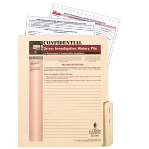 Confidential Driver Investigation History File Packet