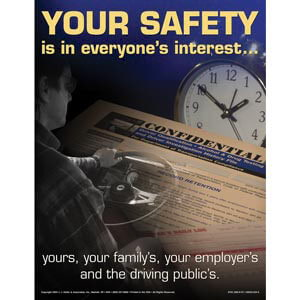 CMV Driver Basics Training Program - Awareness Poster