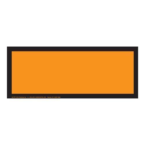blank orange panel