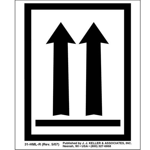 This End Up Orientation Arrows Package Marking (00084)