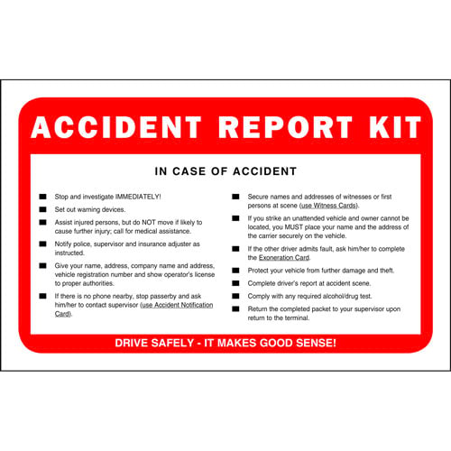 Accident Report Kit in Envelope - No Camera (00215)