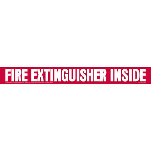 Fire Extinguisher Inside Truck Sign (01653)