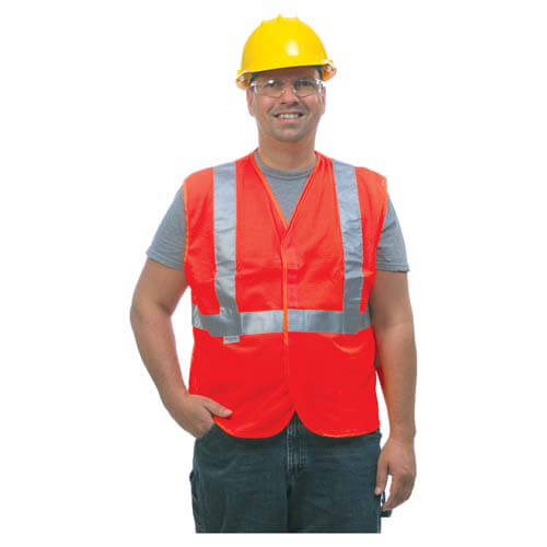 GloWear® Type R Class 2 Safety Vest - Mesh, Hook & Loop Closure, 1 Pocket (00747)