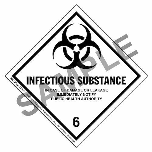 Hazardous Materials Labels - Class 6, Division 6.2 -- Infectious Substance - Paper, Roll (00226)