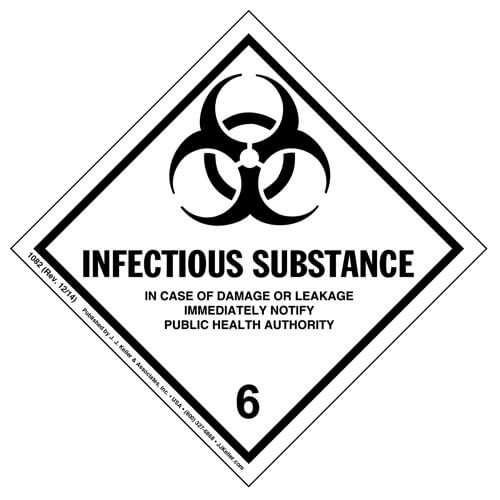 Class 6 Infectious Substance Labels (00228)