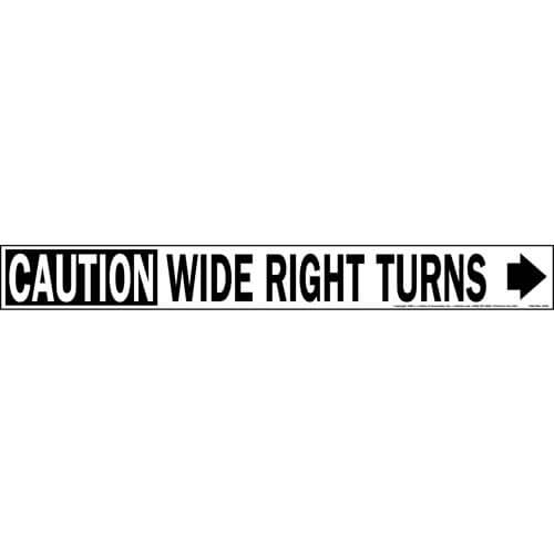 Caution Wide Right Turns Sign with Arrow (01654)