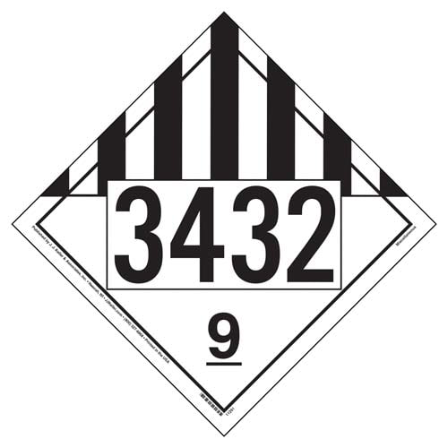 3432 Placard - Class 9 Miscellaneous (02274)