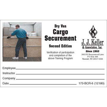 Dry Van Cargo Securement, Second Edition - Wallet Cards (03267)
