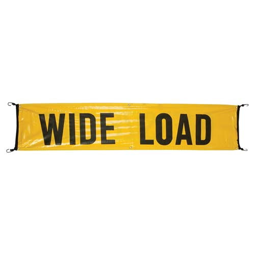 Vinyl Wide Load/Oversize Load Banner w/ Bungee Cords Sewn In (02019)