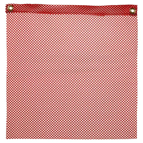 Warning Flag - Red Polyester Mesh (00837)