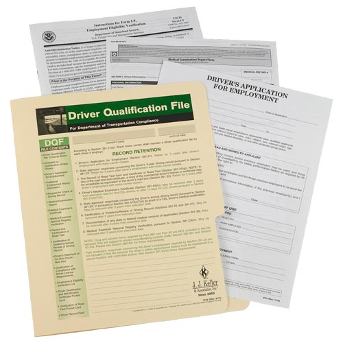 Driver Qualification File Packet (Single Copy) (00102)
