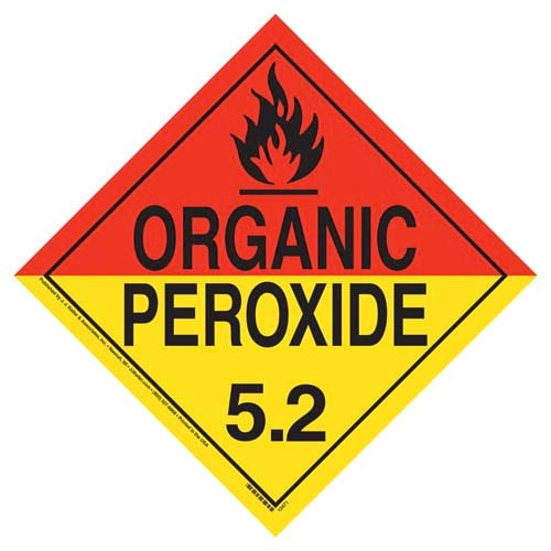 Division 5.2 Organic Peroxide Placard - Worded (02276)
