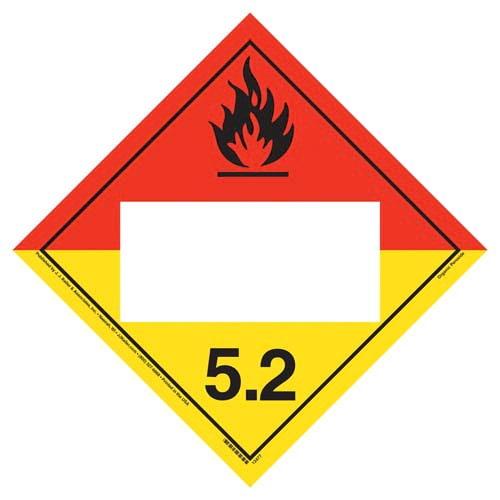 Division 5.2 Organic Peroxide Placard - Blank (02281)