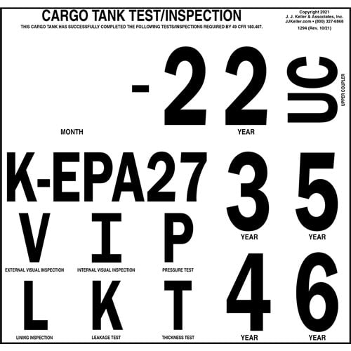 Cargo Tank Inspection Markings (01591)
