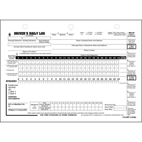Canadian Driver's Daily Log Book, English - Retail Packaging (06026)