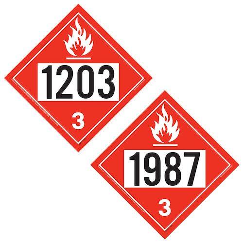 1203/1987 Placard - Class 3 Flammable Liquid (02288)