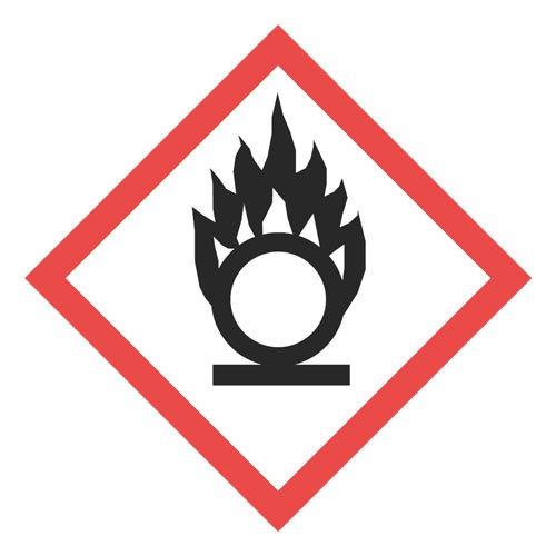 GHS Pictogram Labels - Flame Over Circle (05788)