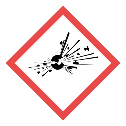 GHS Pictogram Labels - Exploding Bomb (05790)