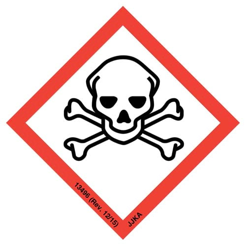 GHS Pictogram Labels - Skull & Crossbones (05791)