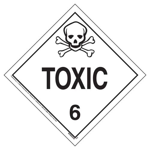 Division 6.1 Toxic Placard - Worded (02411)