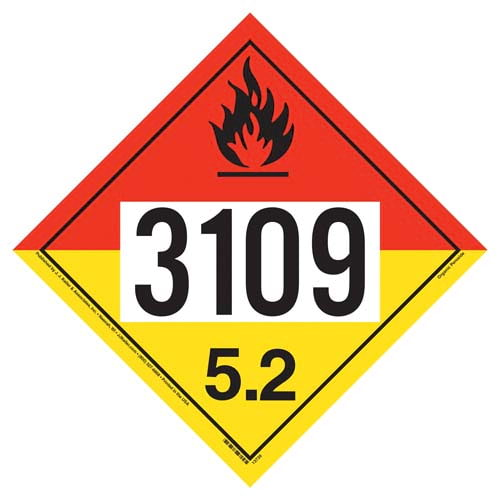 3109 Placard - Division 5.2 Organic Peroxide (02608)