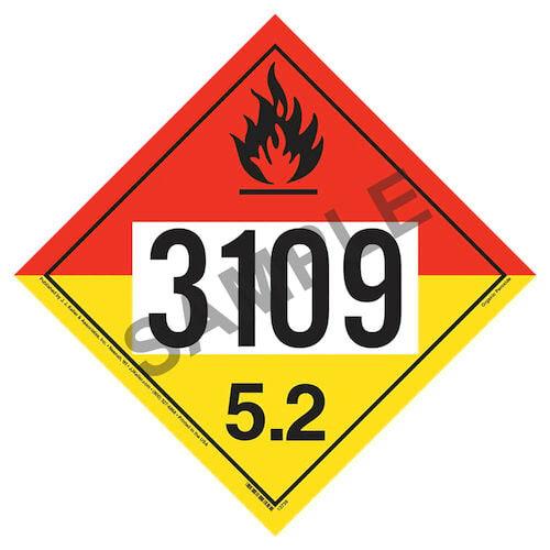 3109 Placard - Division 5.2 Organic Peroxide (02608)