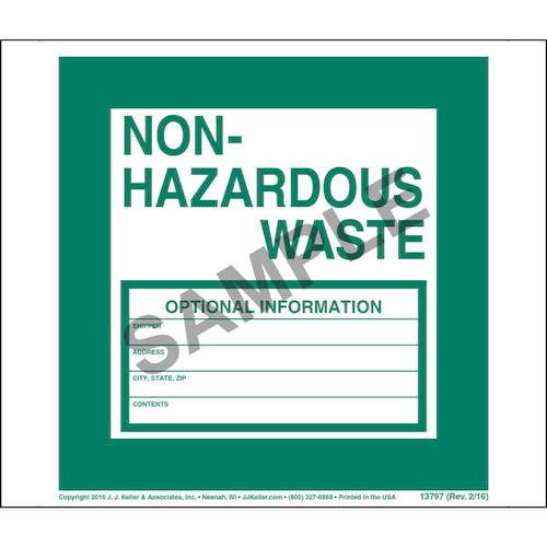 Non-Hazardous Waste Label - Vinyl, Continuous Format (00086)