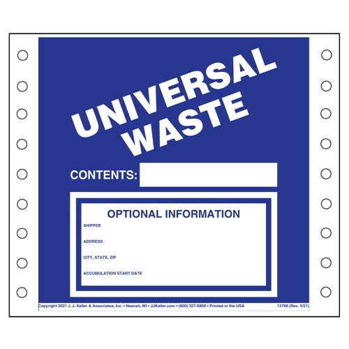 Universal Waste Labels (00466)
