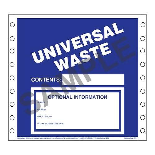 Universal Waste Labels - Vinyl (00470)