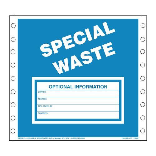 Special Waste Labels - Vinyl (00479)