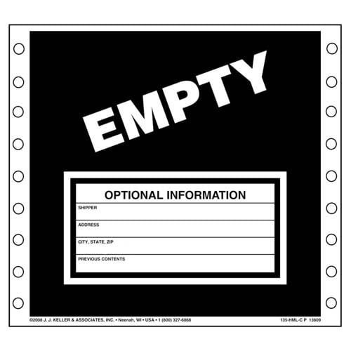 Waste Labels - Empty (00498)