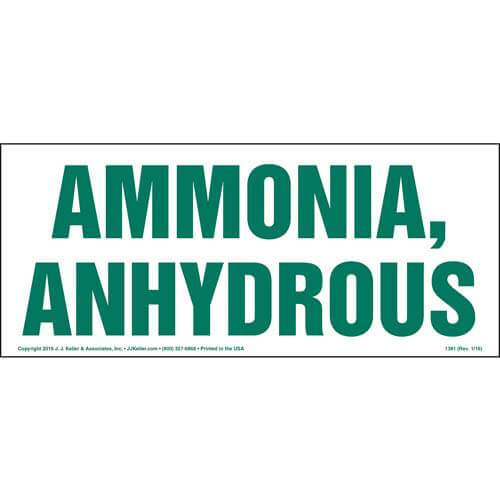 Ammonia, Anhydrous Sign (01910)