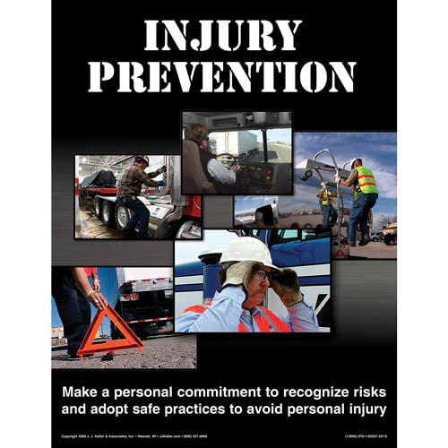 Injury Prevention for Drivers Training Program - Awareness Poster (00621)