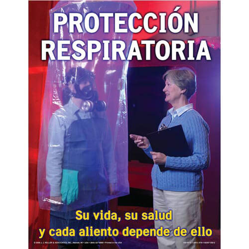 Respiratory Protection: Breathing Safely Training Program - Awareness Poster - Spanish (03264)