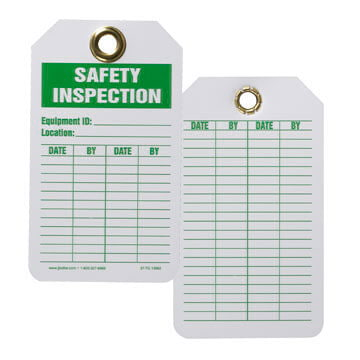 Safety Tag - Plastic - Safety Inspection (00180)