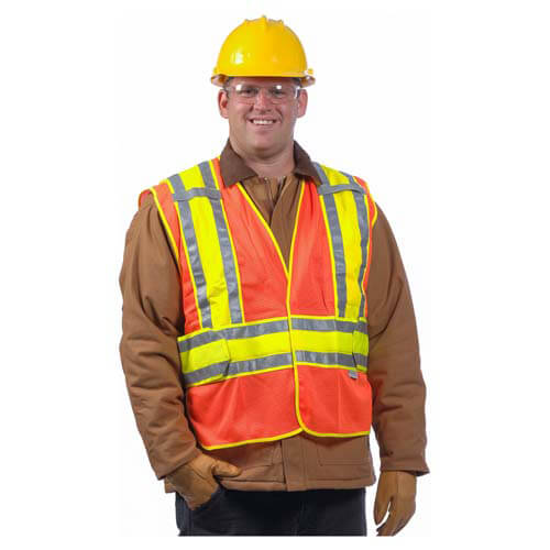 Safety Vest: Type R Class 2 Mesh Expandable Two-Tone (00105)