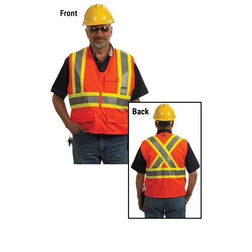 GloWear® Type R Class 2 Two-Tone X-Back Safety Vest (00814)