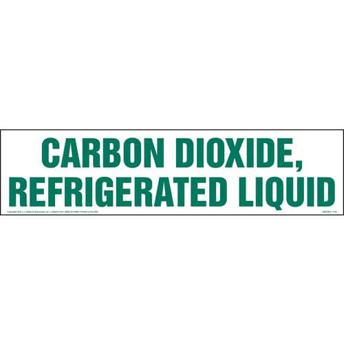 Carbon Dioxide, Refrigerated Liquid Sign (01736)