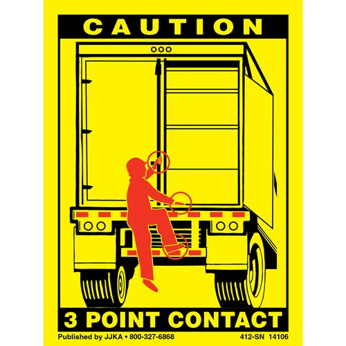 Trailer Swing Door 3-Point Contact Label (01036)