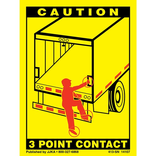 Trailer Roll Up Door 3-Point Contact Label (01039)
