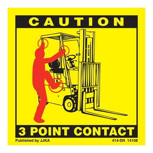 Forklift (Seated) 3-Point Contact Label (00918)
