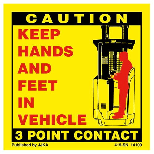 Forklift (Standing) 3-Point Contact Label (00920)