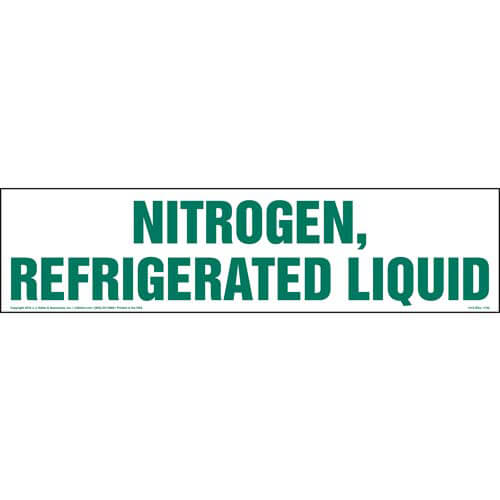 Nitrogen, Refrigerated Liquid Sign (01737)