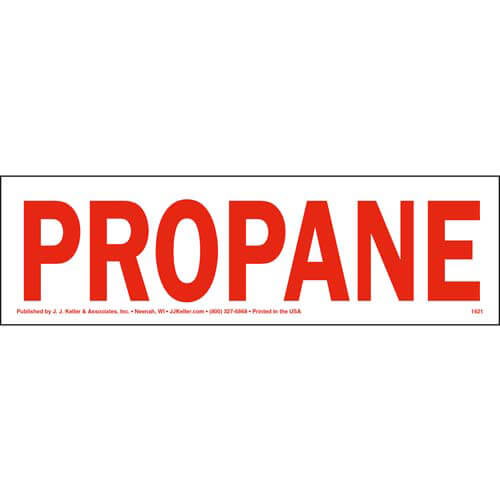 Propane Label (01738)