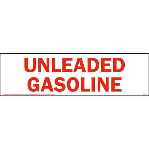 Unleaded Gasoline Sign (01740)
