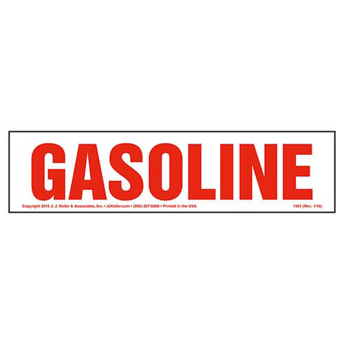 Gasoline Sign (01742)