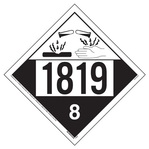 1819 Placard - Class 8 Corrosive (02198)