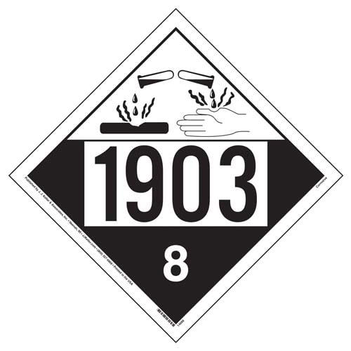 1903 Placard - Class 8 Corrosive (02199)