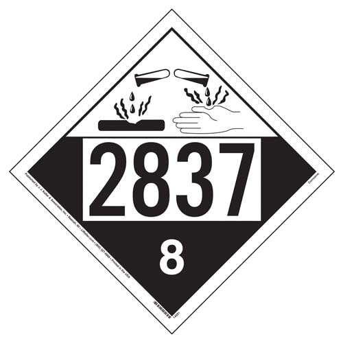 2837 Placard - Class 8 Corrosive (02202)